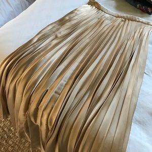 ASOS gold pleated maxi skirt